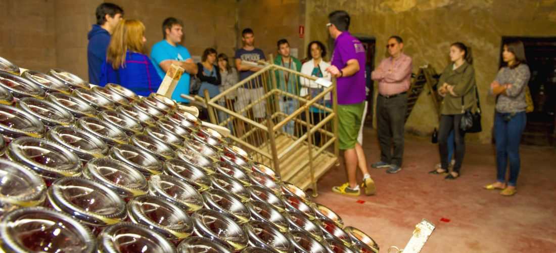 Take A Tour Of The Cellars Where The Bottled Cava Matures